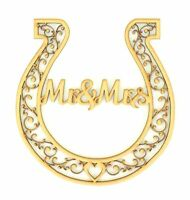 Wedding Horseshoe Mr & Mrs Bridal Gifts Lucky Keepsake Good Luck Wedding Gift
