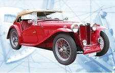 Model MG TC Auto Full Size Printed Plan & Article Scale 1/16 Display or Motorize