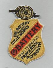 A new machine embroidered hand finished cloth badge Battery Cycles Plymouth.B53.