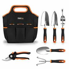 TACKLIFE Garden Tools Set-7 Piece Stainless Steel Heavy Duty kit, GGT4A, Black a