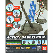 Bandai New Gundam ACTION BASE 1 GRAY f/ 1/100 Scale Display Stand from Japan