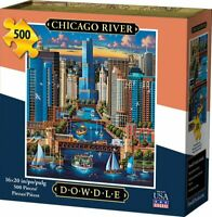 500 Piece Jigsaw Puzzle CHICAGO RIVER by DOWDLE Factory Sealed / New