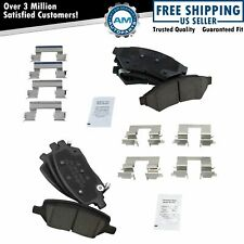 Ceramic Disc Brake Pads Front & Rear for Chevy Buick Saturn Pontiac