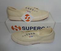 Superga 2750 Cotu Classic Canvas Beige Mens Shoes Trainers RRP £50 UK Size 14.5