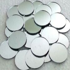 24 Round Silver MIRROR Glass MOSAIC TILE  ART CRAFT SUPPLIES Hand-Cut 1""