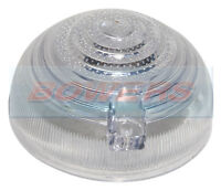 CLASSIC AUSTIN MINI LAND ROVER SIDE AND INDICATOR LAMP LIGHT CLEAR LENS SCREW ON