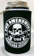 2nd Amendment Skull and Guns Can Koozie Coozie Coolie Cooler Huggie #1042