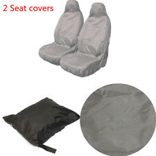 Universal Car Van Waterproof Nylon Heavy Duty Front Seat Covers Protectors [NEW]