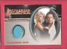 TRICIA HELFER WORN COSTUME PIECE RELIC SWATCH CARD BATTLESTAR GALLACTIA NUMBER 6