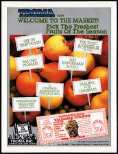 TROMA INC. films / TOXIC AVENGER coupon __Orig. 1990 Trade print AD_Cannes promo