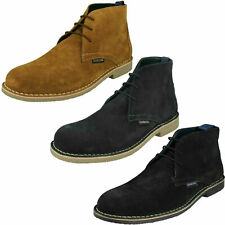 Mens Lambretta Lace Up Suede Ankle Boots - Carnaby III