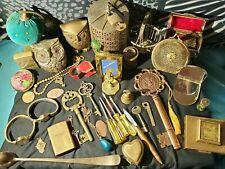 Vintage brass Junk drawer lot