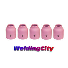 10 Alumina Ceramic Gas Lens Cups 53N60 #6 for TIG Welding Torch 9 20 and 25