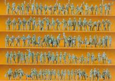 Preiser 16325 Railway Personnel & Passengers (Pk120 Figures Unpainted) OO/HO