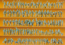 Preiser 16325 Railway Personnel and Travelers 120 Unpainted Figures