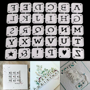 LETTER ALPHABET METAL CUTTING DIES SCRAPBOOKING PAPER CARDS ALBUM STENCIL UK