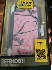 New! OtterBox Defender Apple iPhone 5 With Belt Clip Pink/White Nature NWB