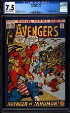 Avengers 95 CGC 7.5 OW/W Pages Bronze Age Key Marvel Comic L@@K IGKC