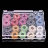 20Pcs Plastic Sewing Machine Bobbins and Threads for Singer Kenmore Viking