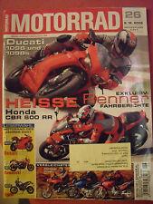 MOTORRAD Zeitschrift 26, Dez.2006 BMW G650 Ducati 1098 Honda CBR Kawasaki Z1000