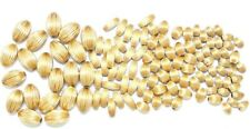 14K Gold Filled Corrugated Oval Beads Componentes G.F. 6mm x 4mm, 12,5mm x 8mm