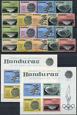 18/Honduras 1964 Olympiade Olympics 607-16 + Block 6 A/B + D230-38 ** MNH
