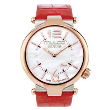 MULCO Ladies Couture Slim Quartz Analog Swiss Movement Watch Leather Band