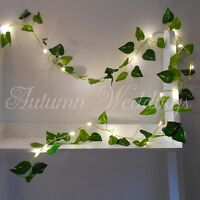 Ivy Leaves 2m LED Fairy String Lights Battery Garland Indoor Wedding Decorations