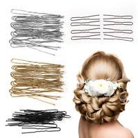 20 Pcs U Shaped Hairpin Hair Clips Bobby Pins Metal Barrette Women Dish Tool