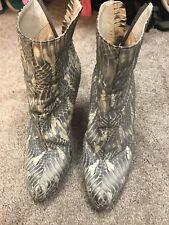 christian louboutin 38.5 booties Snake Skin