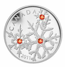 2011 CANADA $20  1 OZ .9999% SILVER HYACINTH CRYSTAL SNOWFLAKES COIN WITH COA