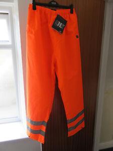 Highways Railway buildersTrousers mens hi viz waterproof Orange XXXXL 4XL BNWT