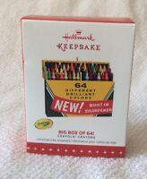 Hallmark Keepsake 2015 Crayola Crayons Big Box Of 64! Ornament NIB