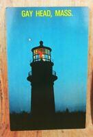 US Post Card Gay Head Lighthouse Gay Head Massachusetts Ocean Beach