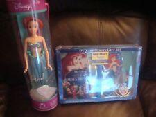 Walmart The Little Mermaid Ariel's Beginning DVD and Vanity Gift Set + Doll, NEW