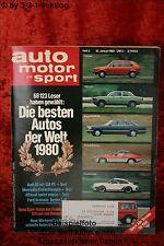 AMS Auto Motor Sport 3/80 Audi 80 GTE DB 300 GD Alfasud Sprint veloce