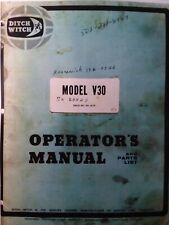 Ditch Witch V30 Trencher Utility Tractor Owner Service Repair Amp Parts Manual