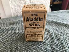 NOS Vintage Aladdin Wick Model 11 W/Direction Aladdin Mantle Lamp