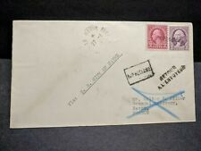 Ship SS CITY of HAVRE Naval Cover 1934 Le Havre, France