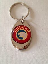 Mercury Cougar Keychain Chrome Metal  Key Chain