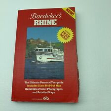 Baedeker's Rhine Paperback Book First Edition 0130564664 Map Guide Travel