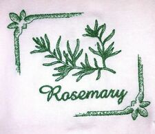 ROSEMARY HERB EMBROIDERED FLOUR SACK DISH TOWEL