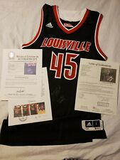 Donovan Mitchell 15-16 Louisville Cardinals Game Worn Used Jersey Jazz BGS & JSA