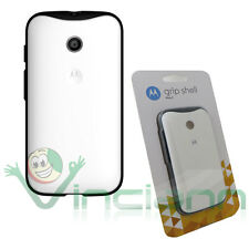 étui PoignéE Shell original Motorola pour Moto E couverture rigide BLANQUE+