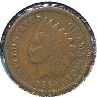 1868 1C Indian Cent (60389)