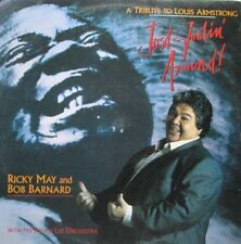 RICKY MAY & BOB BARNARD Just Lookin' Around / A Tribute To Louis Armstrong LP