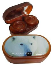 Endangered Species Mirror Case Contact Lens Soaking Storage Case - Polar Bear