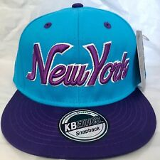 Nueva York turquesa y púrpura Bling Hip Hop Gorra de Béisbol, Sombrero del Snapback, NY