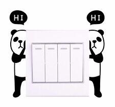 PANDA Small Twin Wall Sticker Light Switch Decor Decals Home Art Vinyl