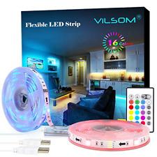 LED Strip Lights, ViLSOM 19.7ft USB Led Light Strip with Remote, RGB 5050 Color
